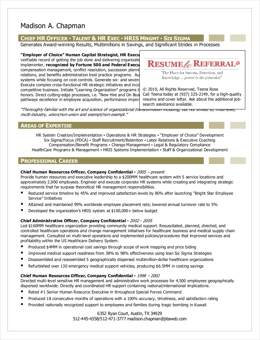hr resume examplesml