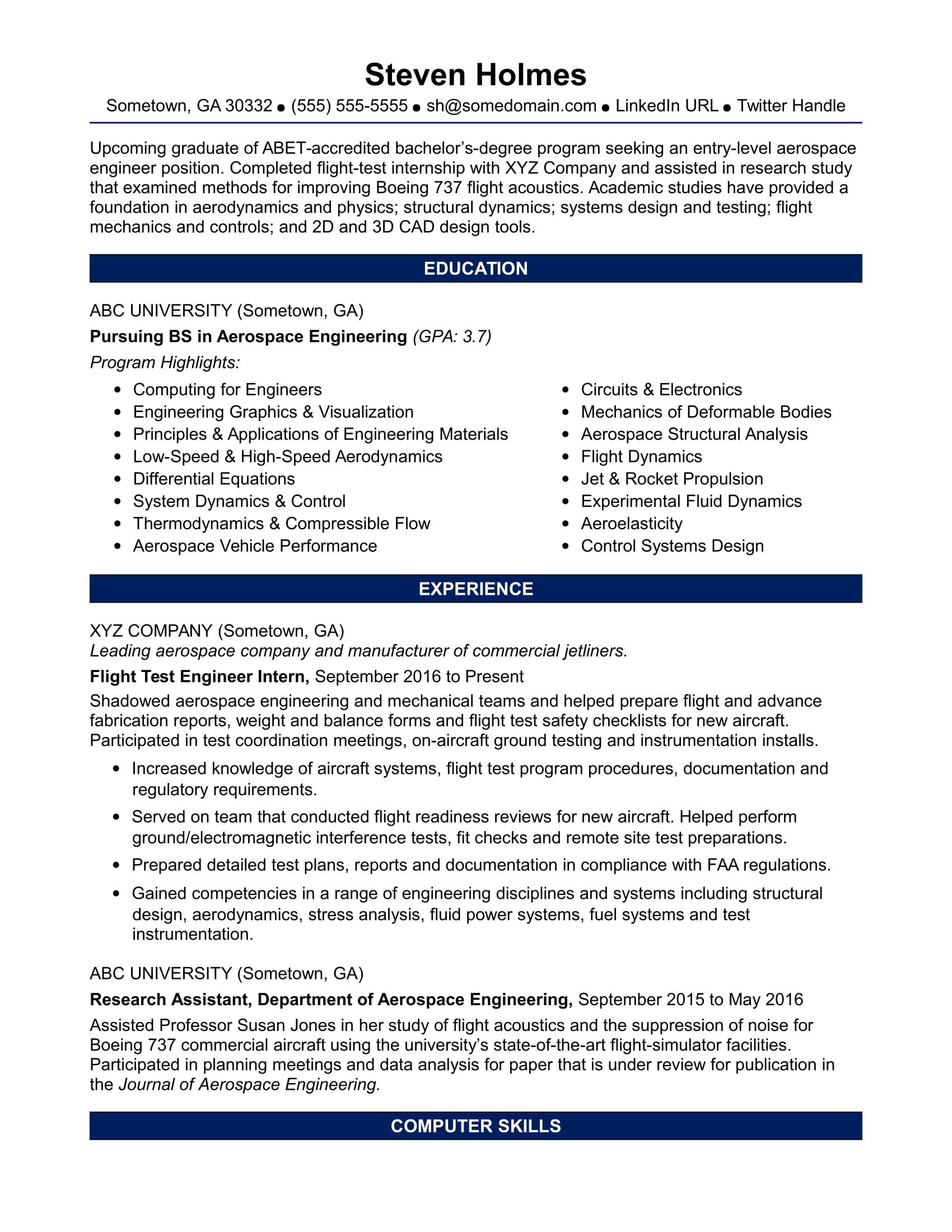 facility engineer resume docml