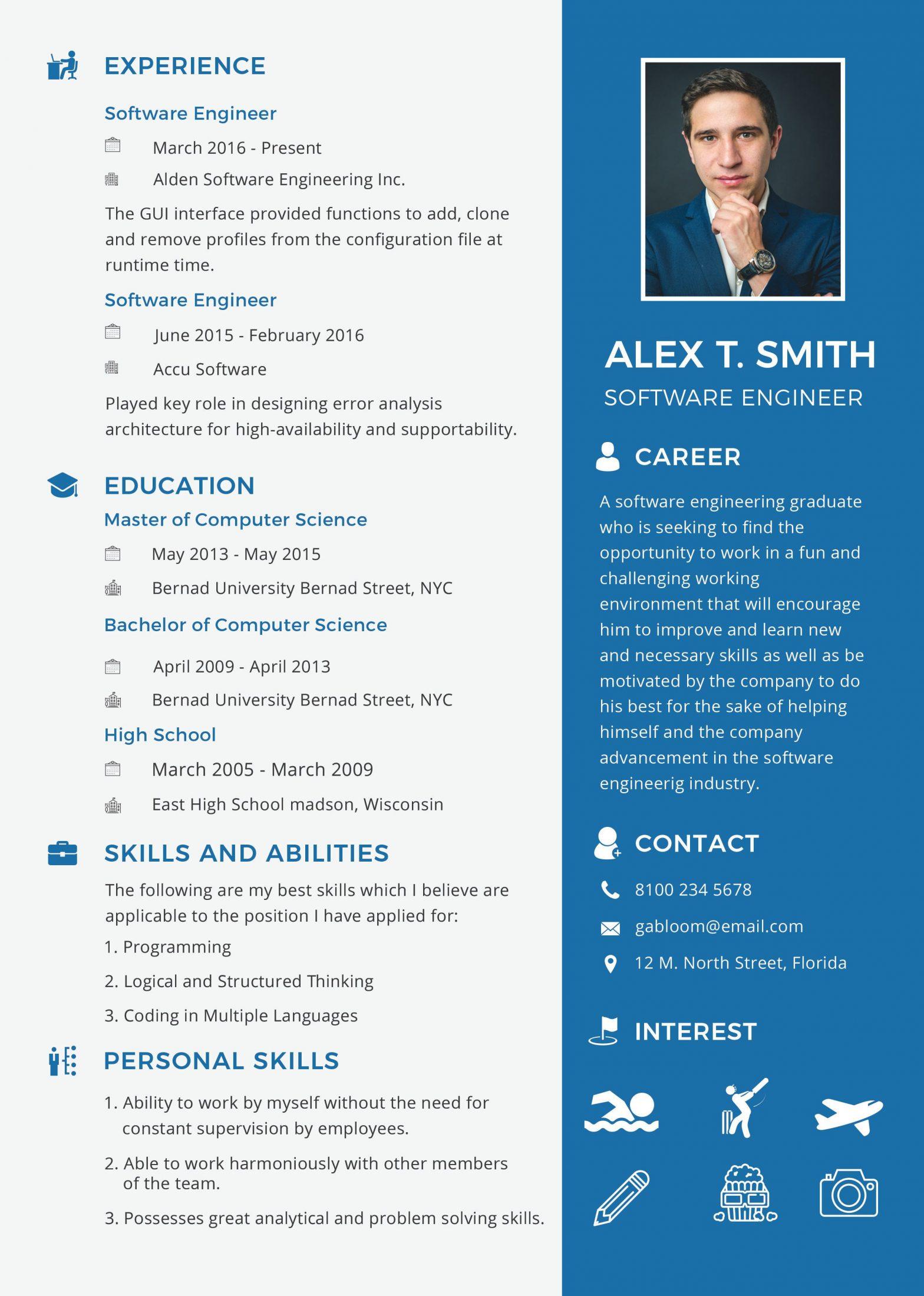 Fresher software Engineer Resume Sample Doc Resume for software Engineer Fresher Template Engineering Resume ...