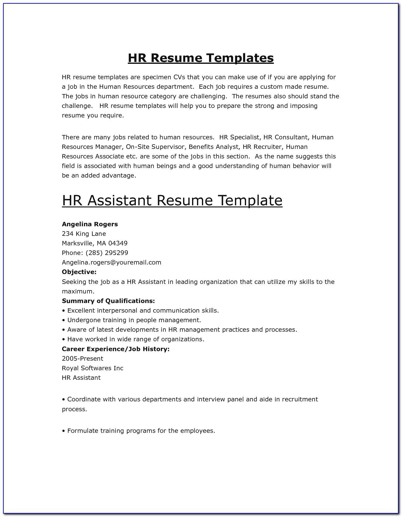 hr assistant resume sampleml