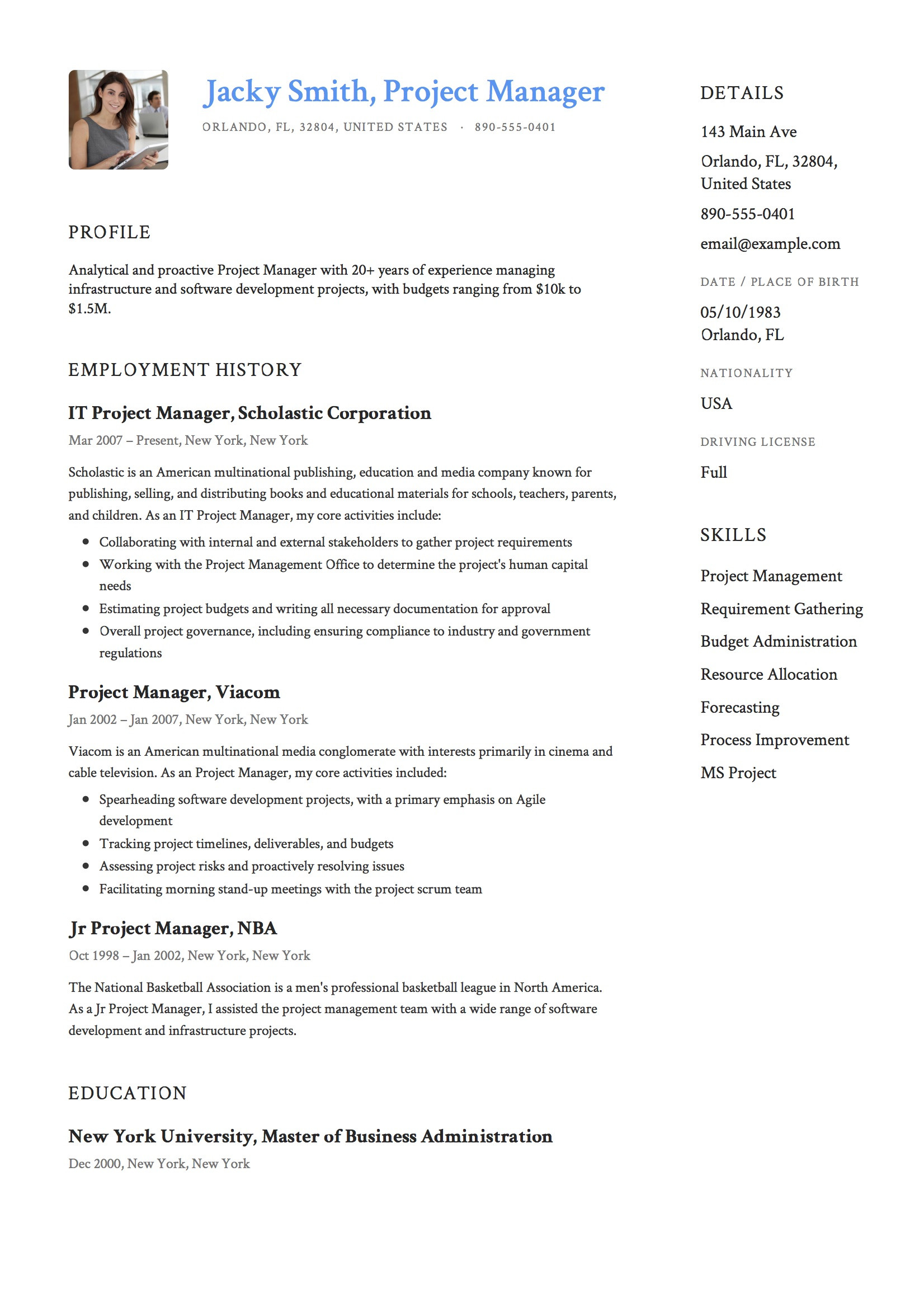 Junior Project Manager Resume Sample Doc 20 Project Manager Resume Examples & Full Guide Pdf & Word 2021