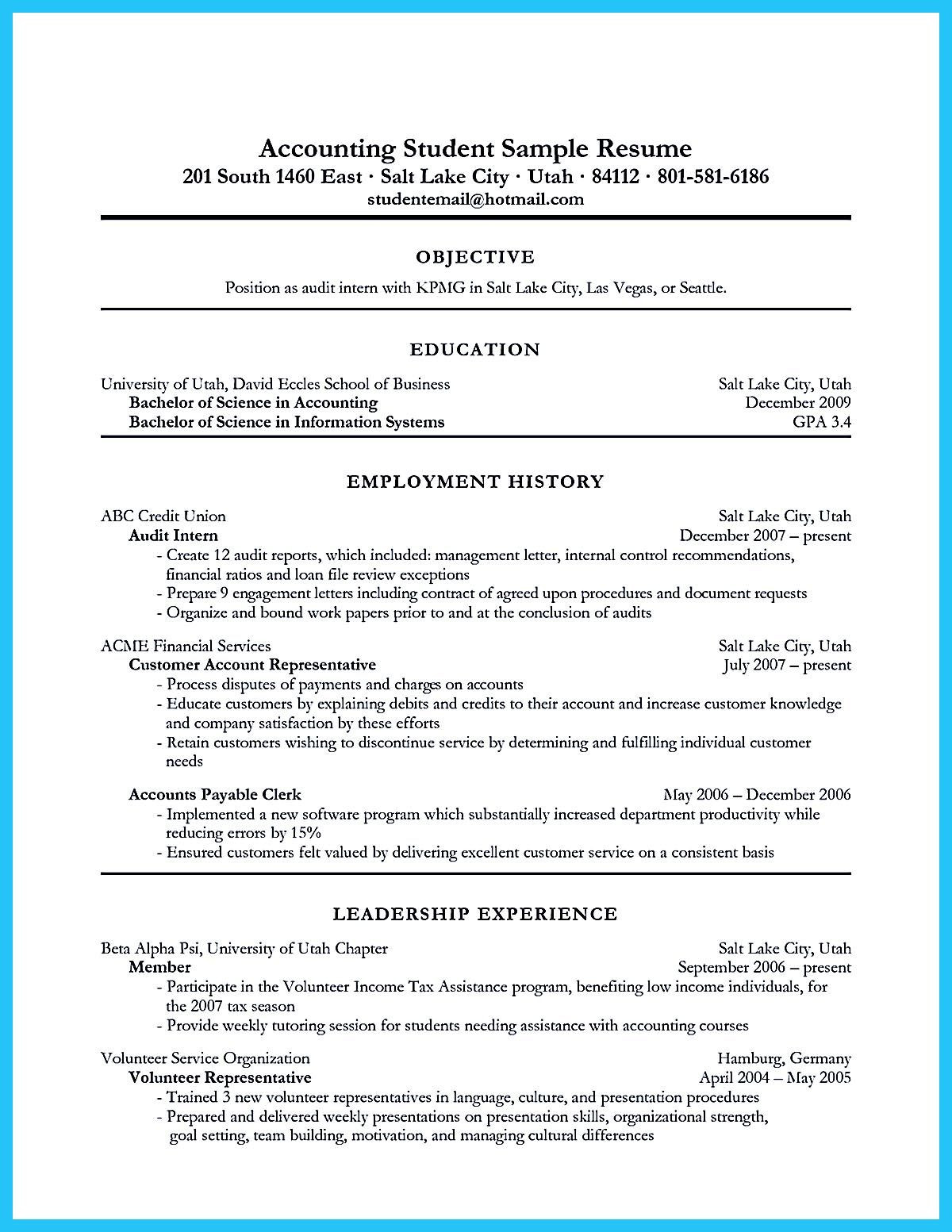 Sample Accounting Resume with No Experience Awesome Accounting Student Resume with No Experience Resume …