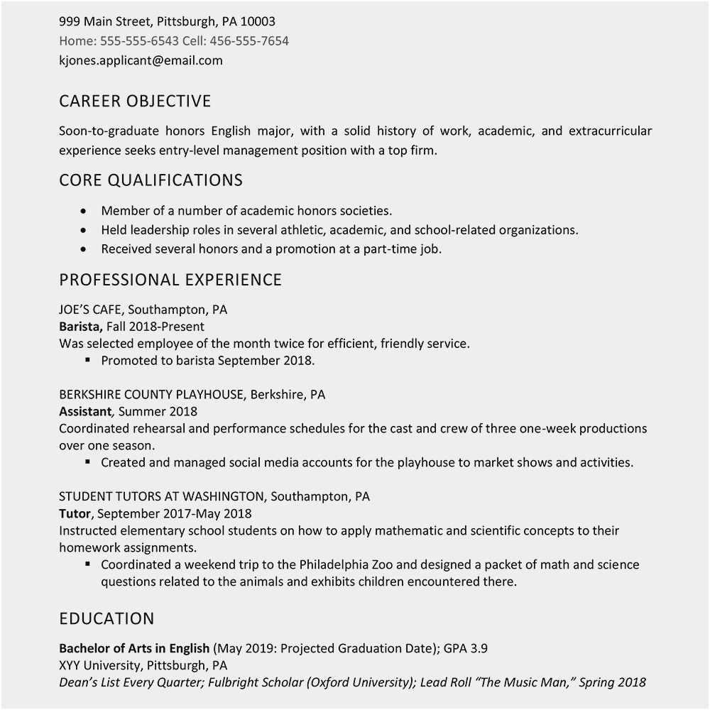sample resume for high school student applying for a job