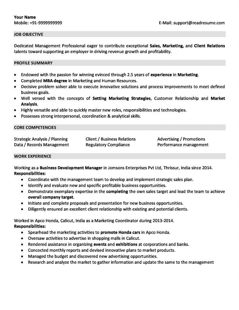 Sample Hr Resumes for 2 Years Experience Resume Examples 2 Years Experience #examples #experience #resume ...
