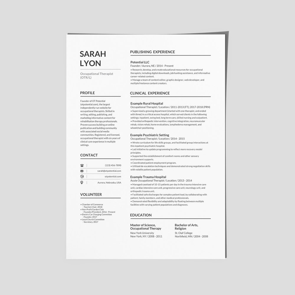 Sample Occupational therapy Resume New Grad How to Make Your Ot Resume Stand Out • Ot Potential