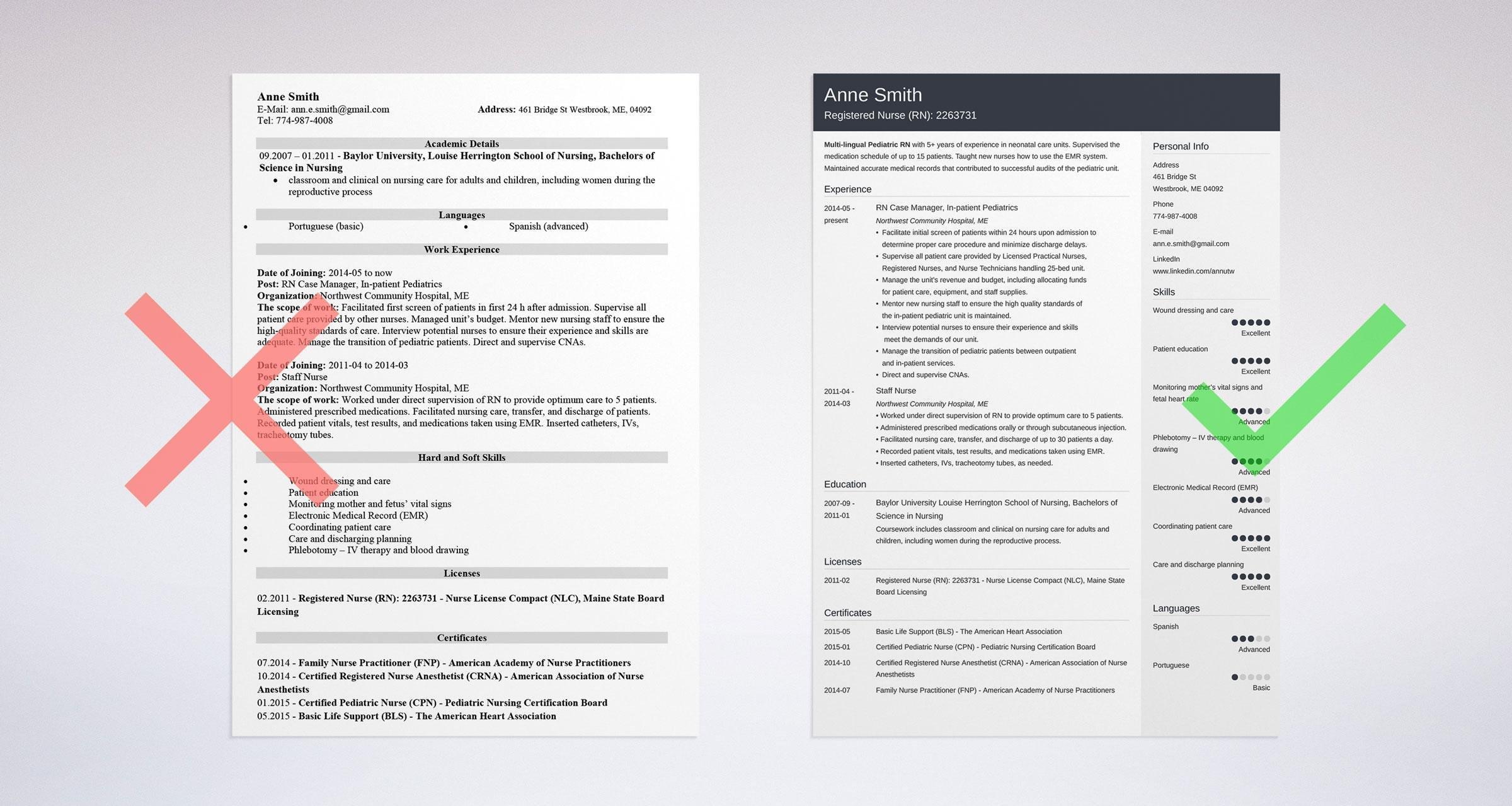 nursing resume examples