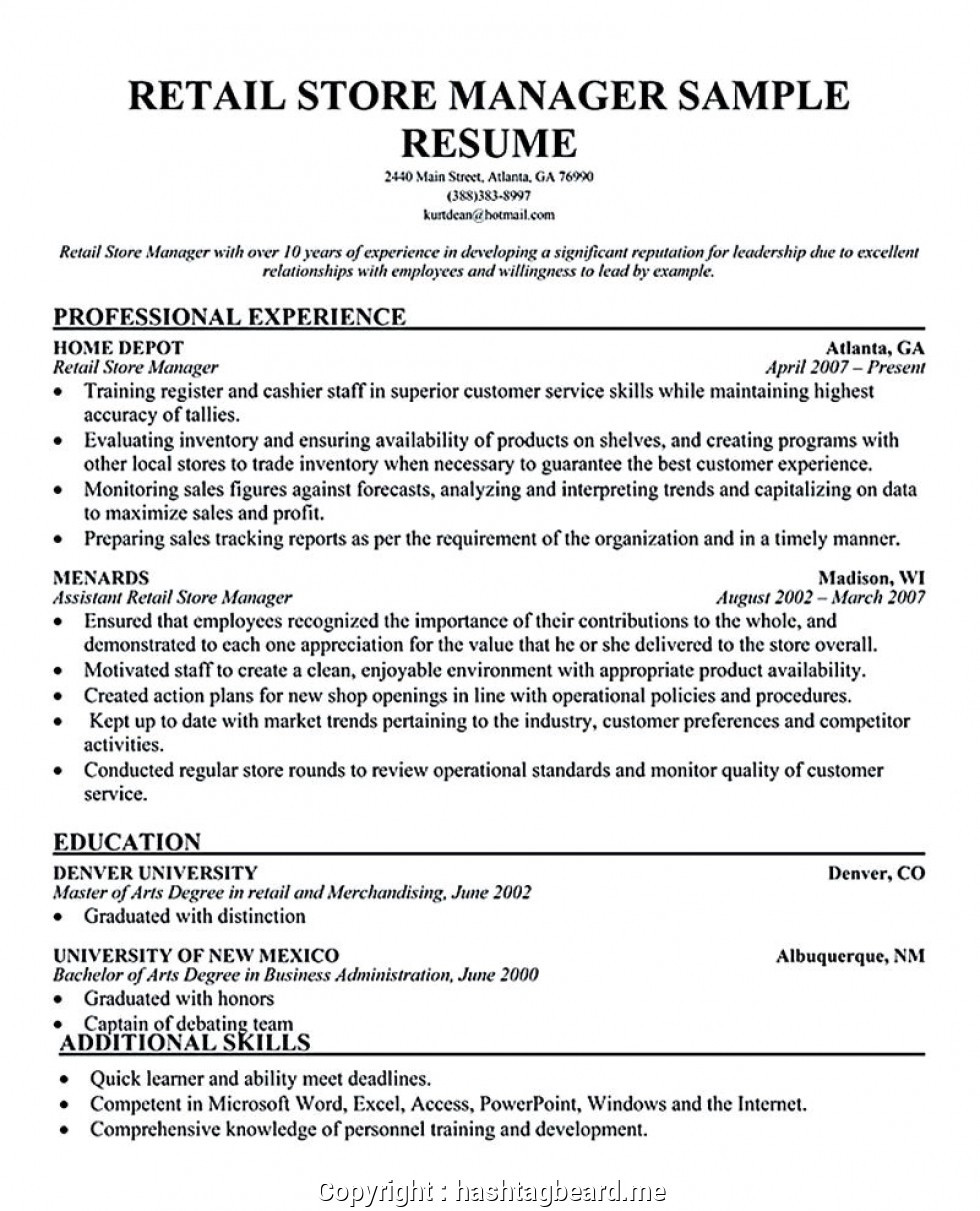 parts manager cv exampleml