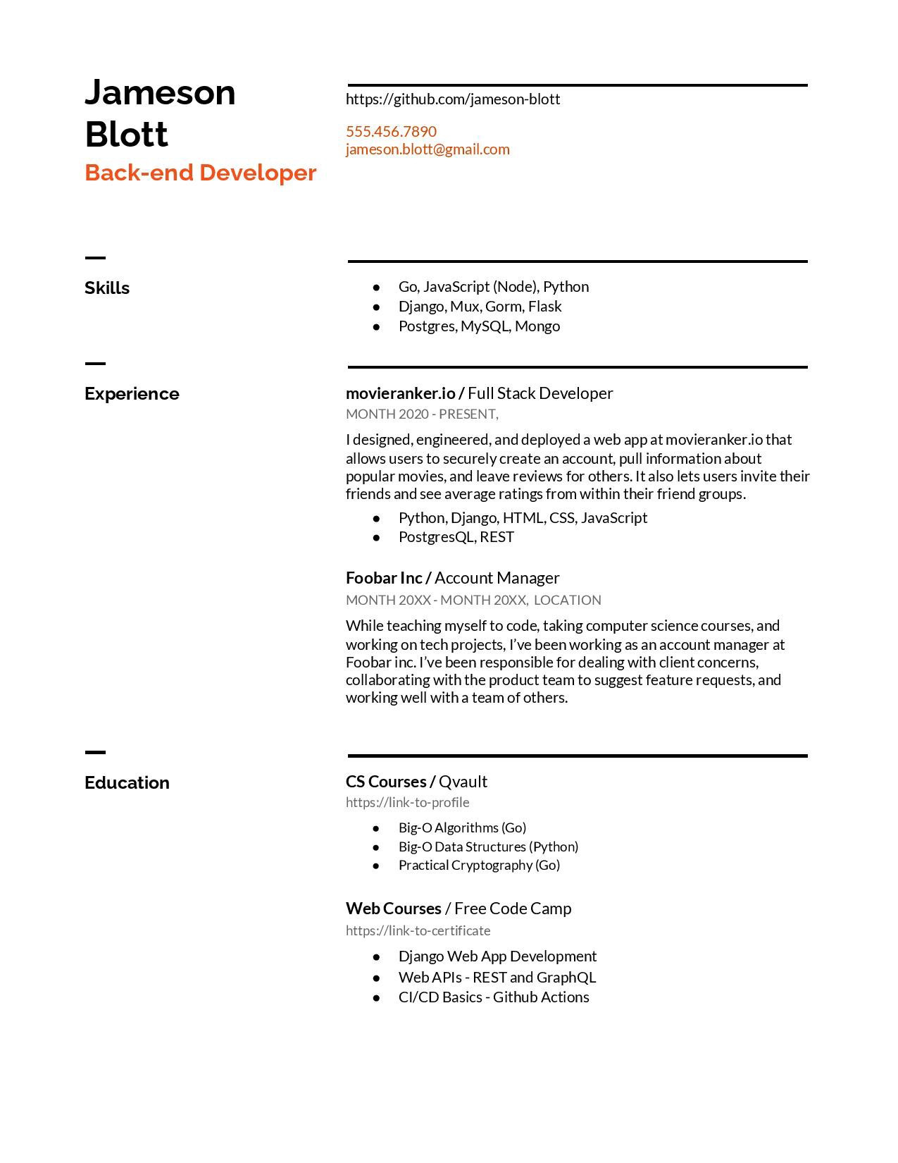 6 puter science resume examples for 2021 af2681e