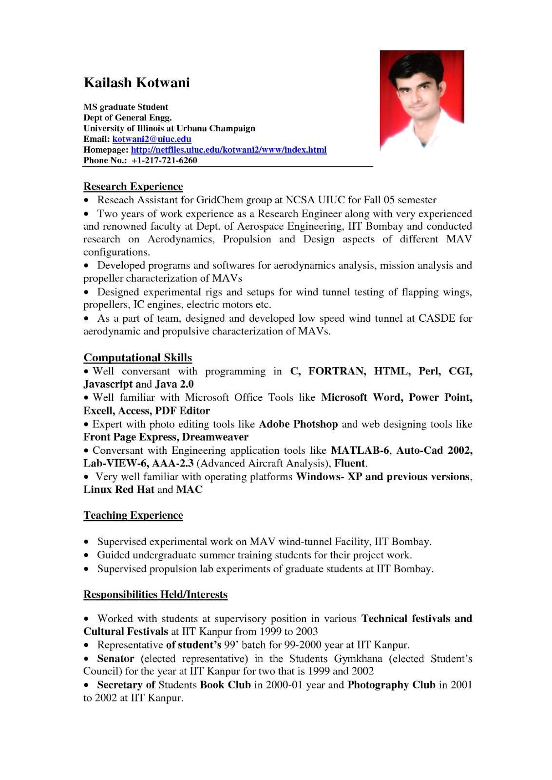 sample resume for fresh graduateml