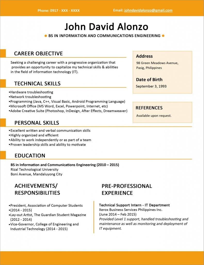graduate engineering cv no experienceml
