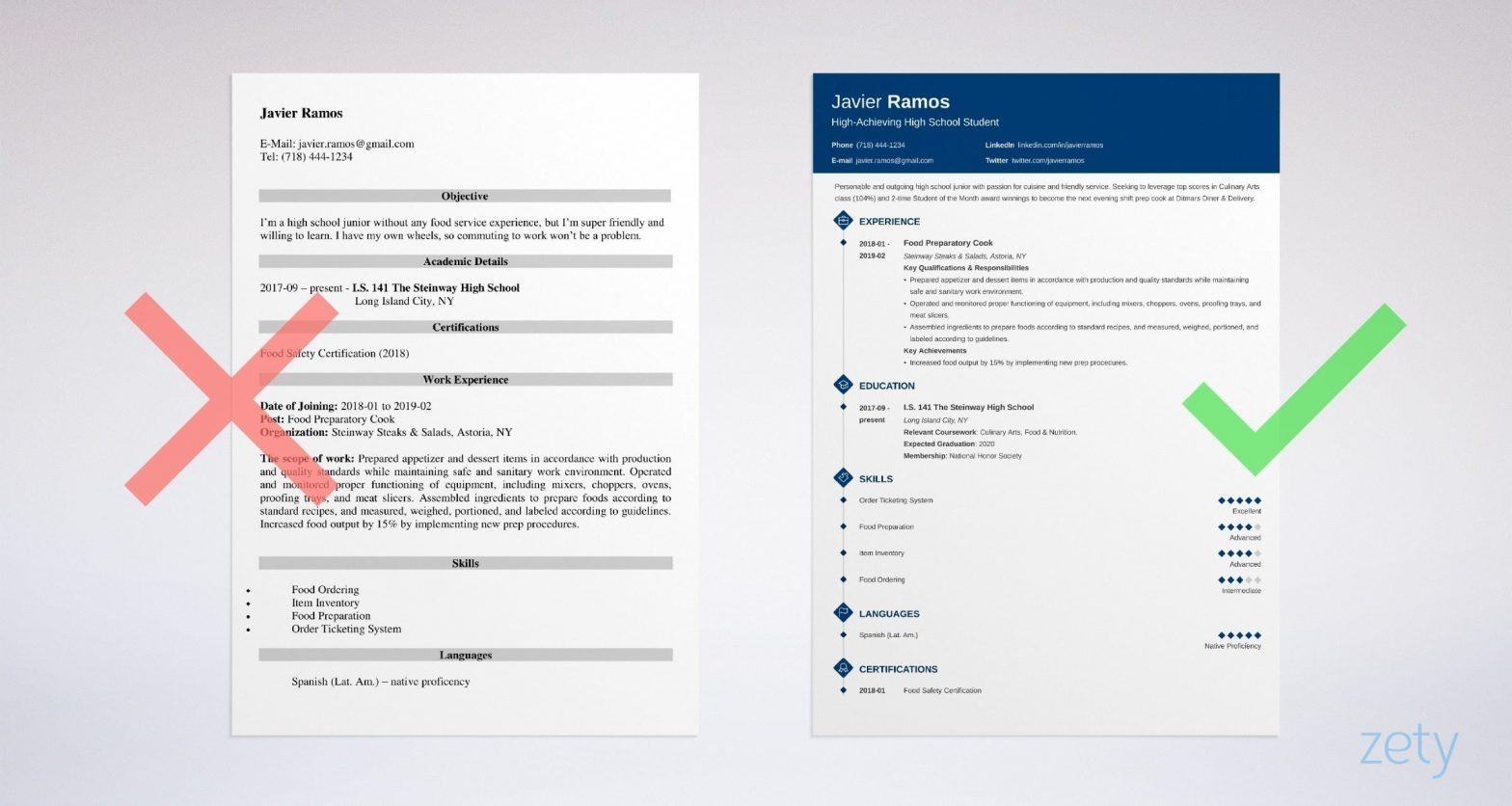 Sample Resume for High School Student Pdf High School Student Resume Template & 20lancarrezekiq Examples