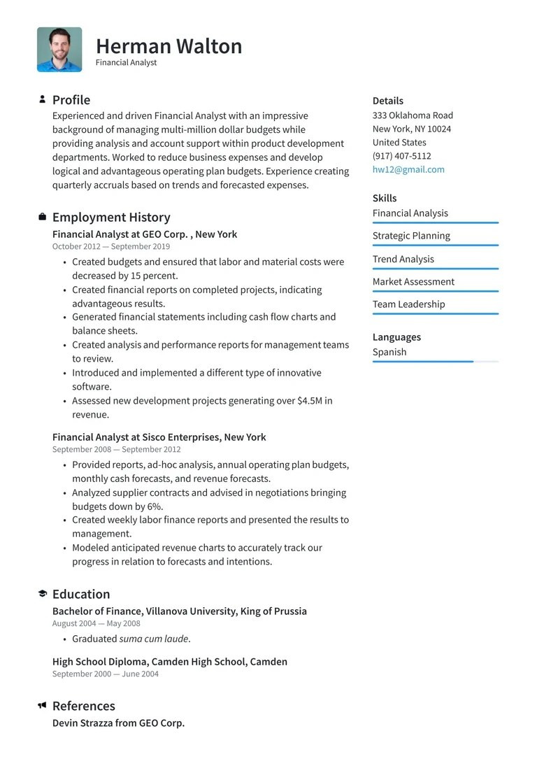 sample resume for abroad applicationml