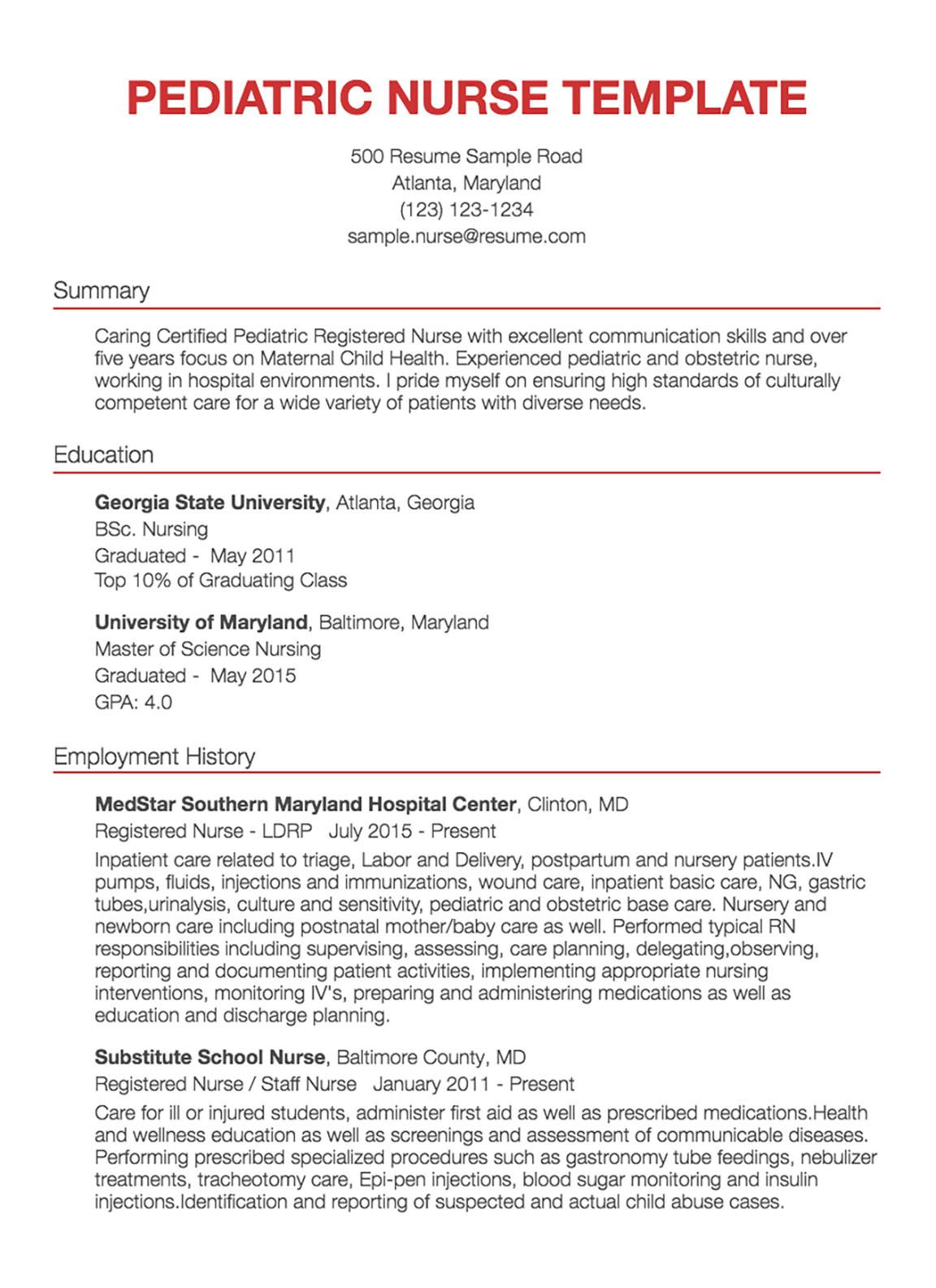 registered nurse cv sampleml