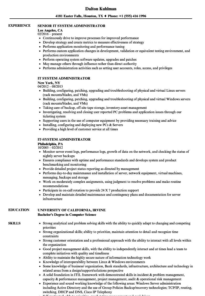 sample resume for experienced linuxml