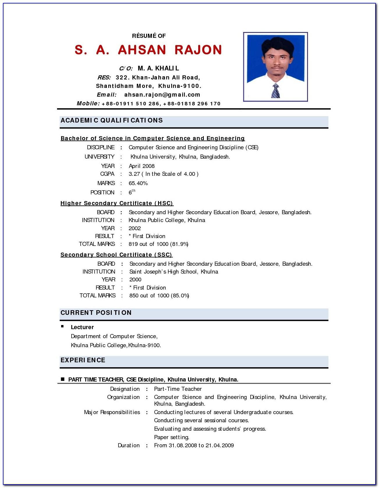 resume format for teaching postml