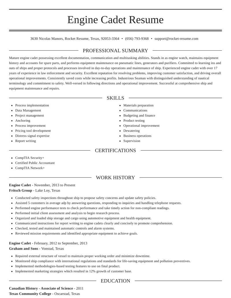 deck cadet application letter forml