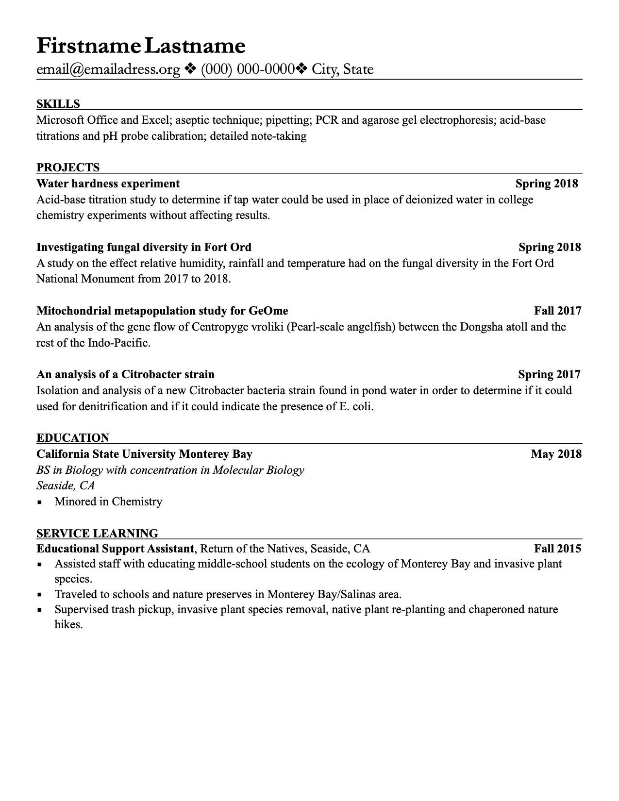 graduated in may 2018 never had a job need