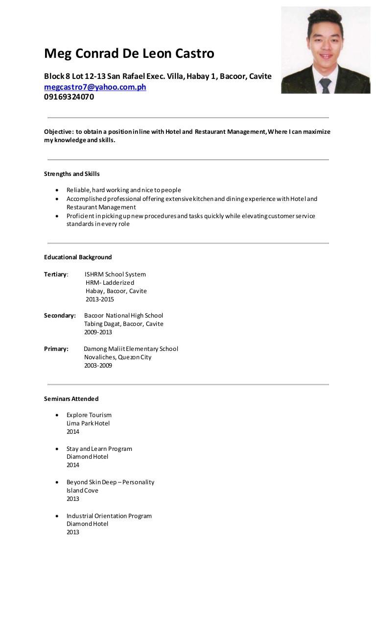 sample resume objectives for hrm ojtml