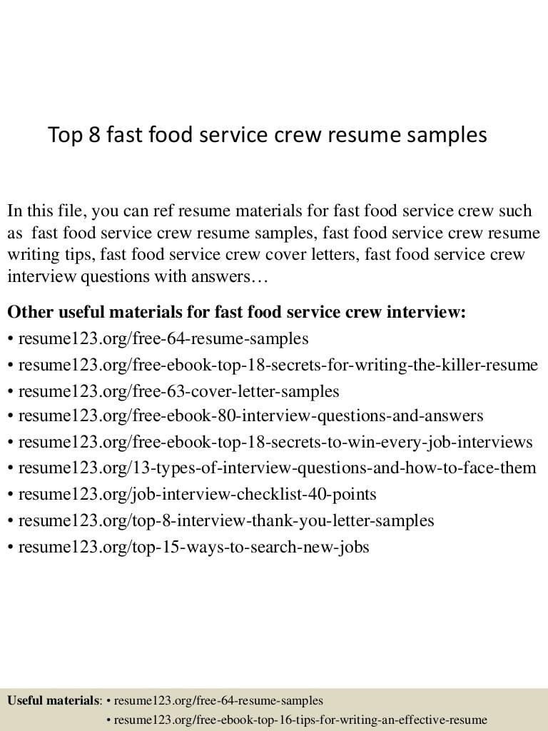 student jollibee service crew resumeml