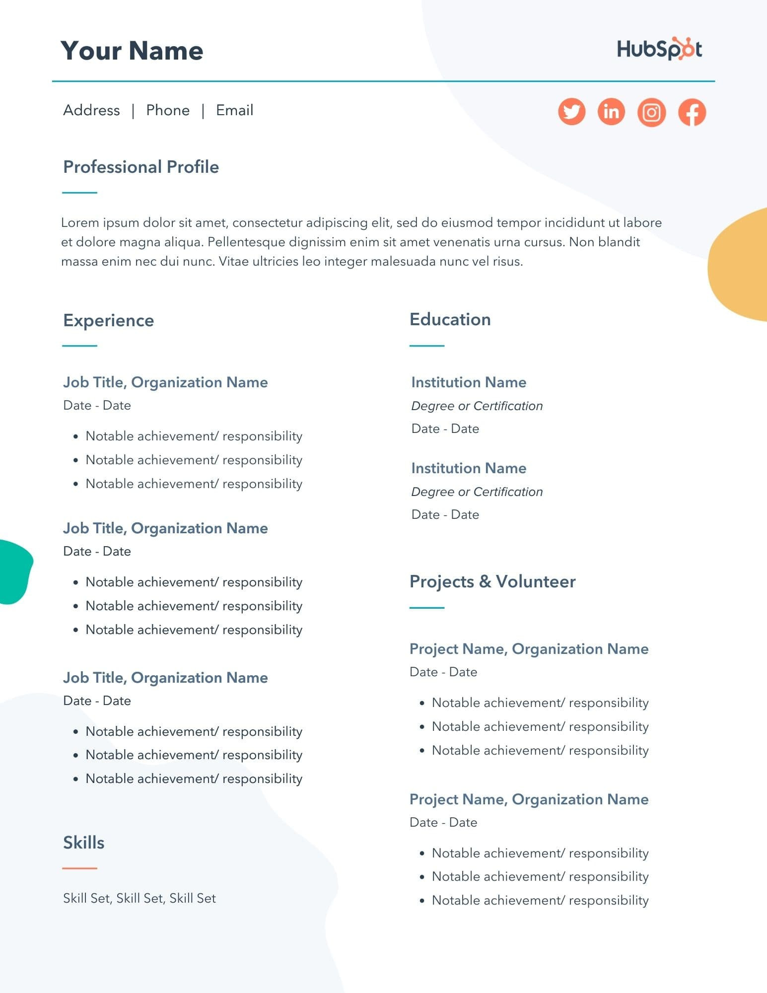 Sample Resume Template for Experienced Candidate 29 Free Resume Templates for Microsoft Word (& How to Make Your Own)