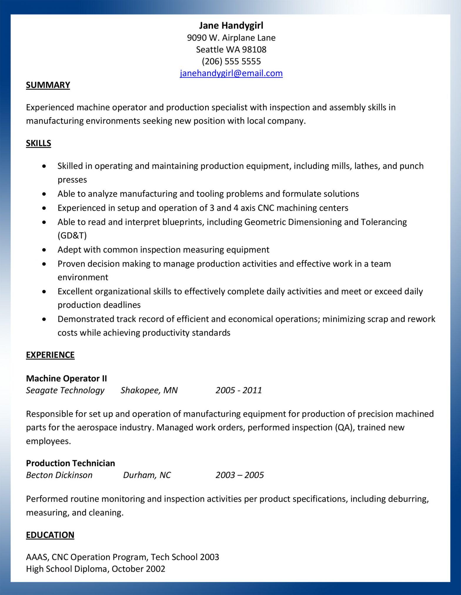 Tool and Die Making Sample Resume tool and Die Maker Apprentice Cv September 2021