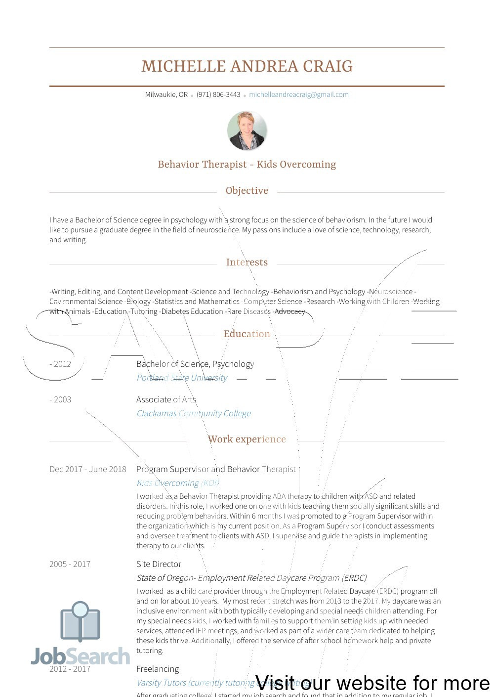 sample child care resume objectives australia 2020 92be0b461f82