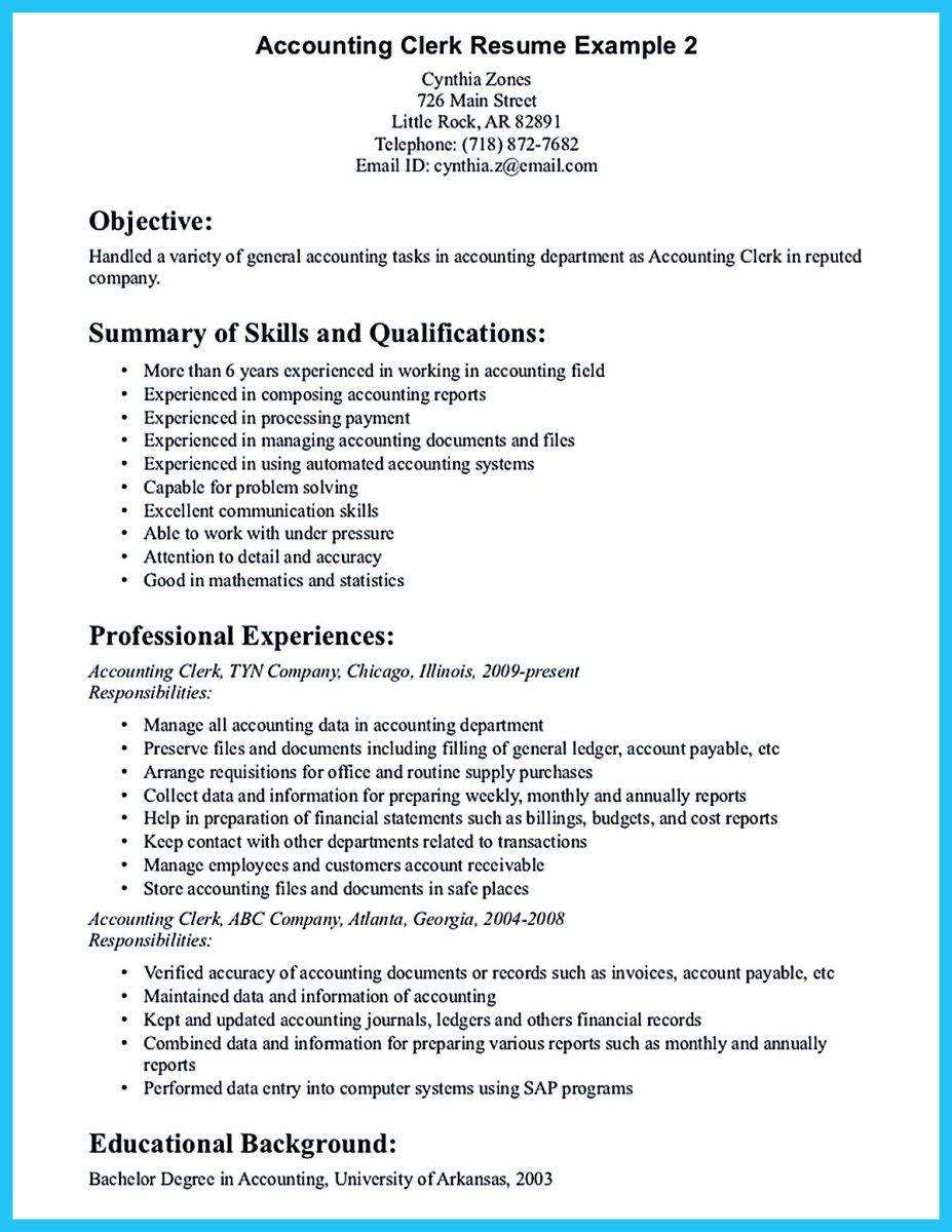 Entry Level Accounting Clerk Resume Sample Accounting Clerk Resume Sample 2019 Resume Templates Canada 2020 ...