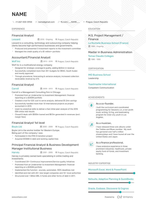 Entry Level Financial Advisor Resume Samples Entry-level Financial Analyst Resume: Examples & Template