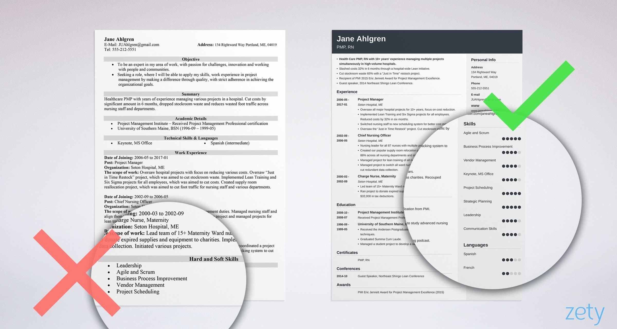 puter skills for resume