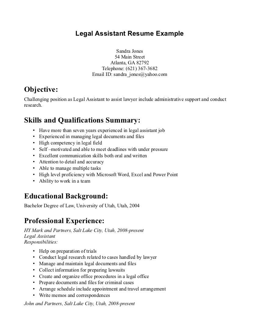 Personal Injury Legal assistant Resume Sample Legal assistant Resume Example Resumesdesign Professional ...