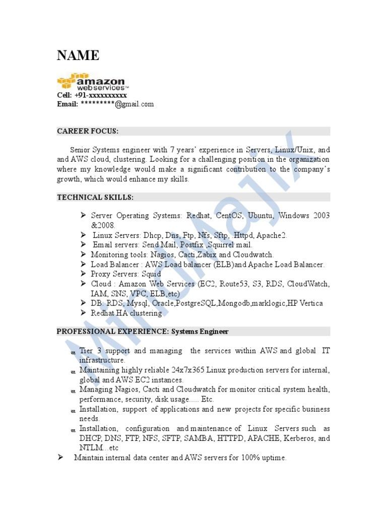 AWS Sample Resume 2