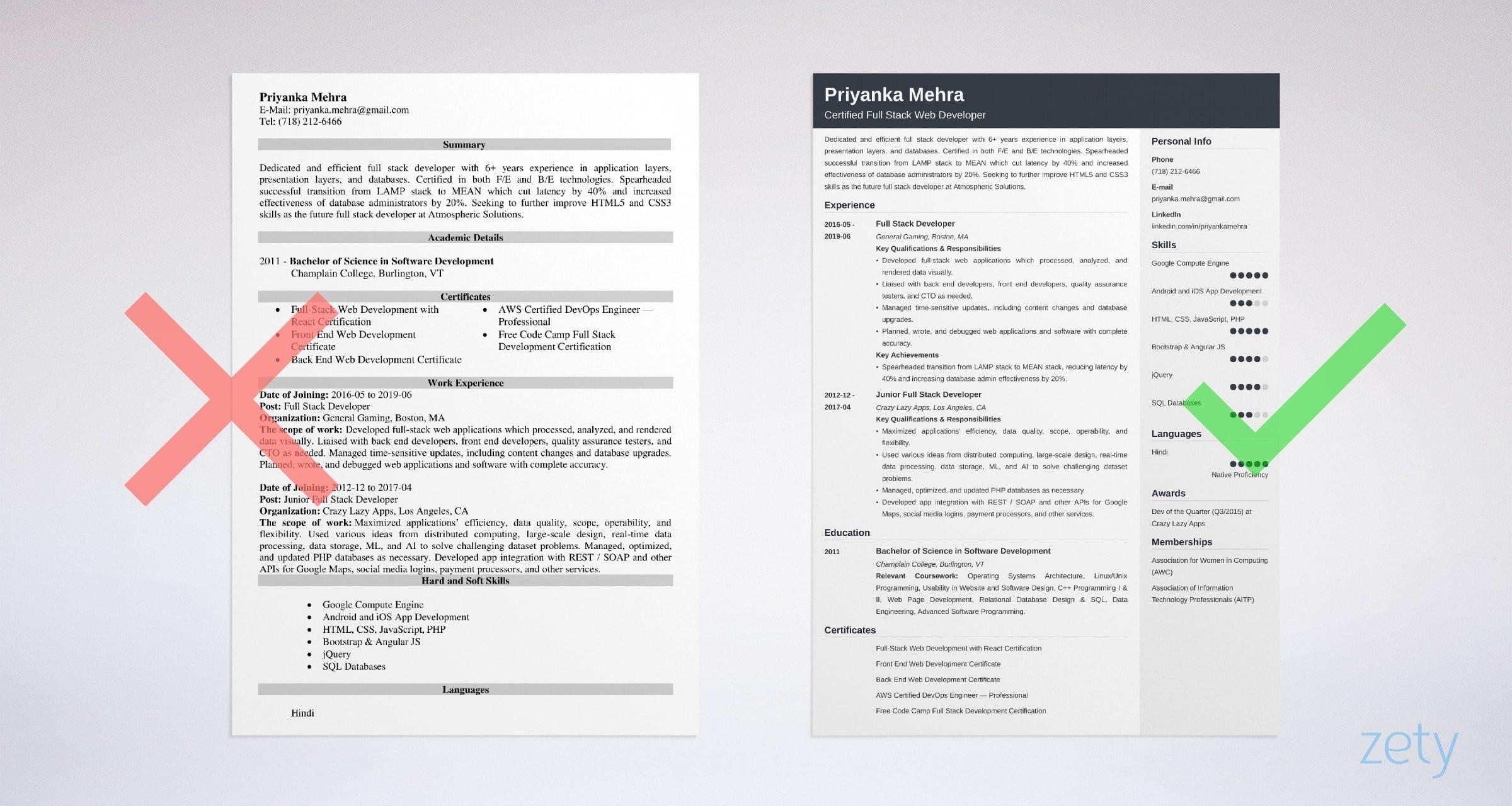 Sample Resume for Java Full Stack Developer Full Stack Developer Resume Examples [web, Java, .net, Etc]