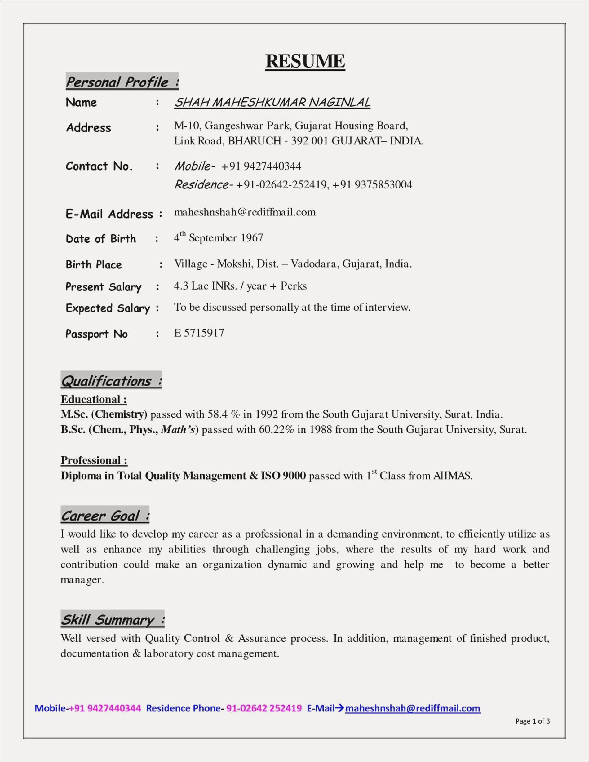 professional resume resume format for job interview pdfml