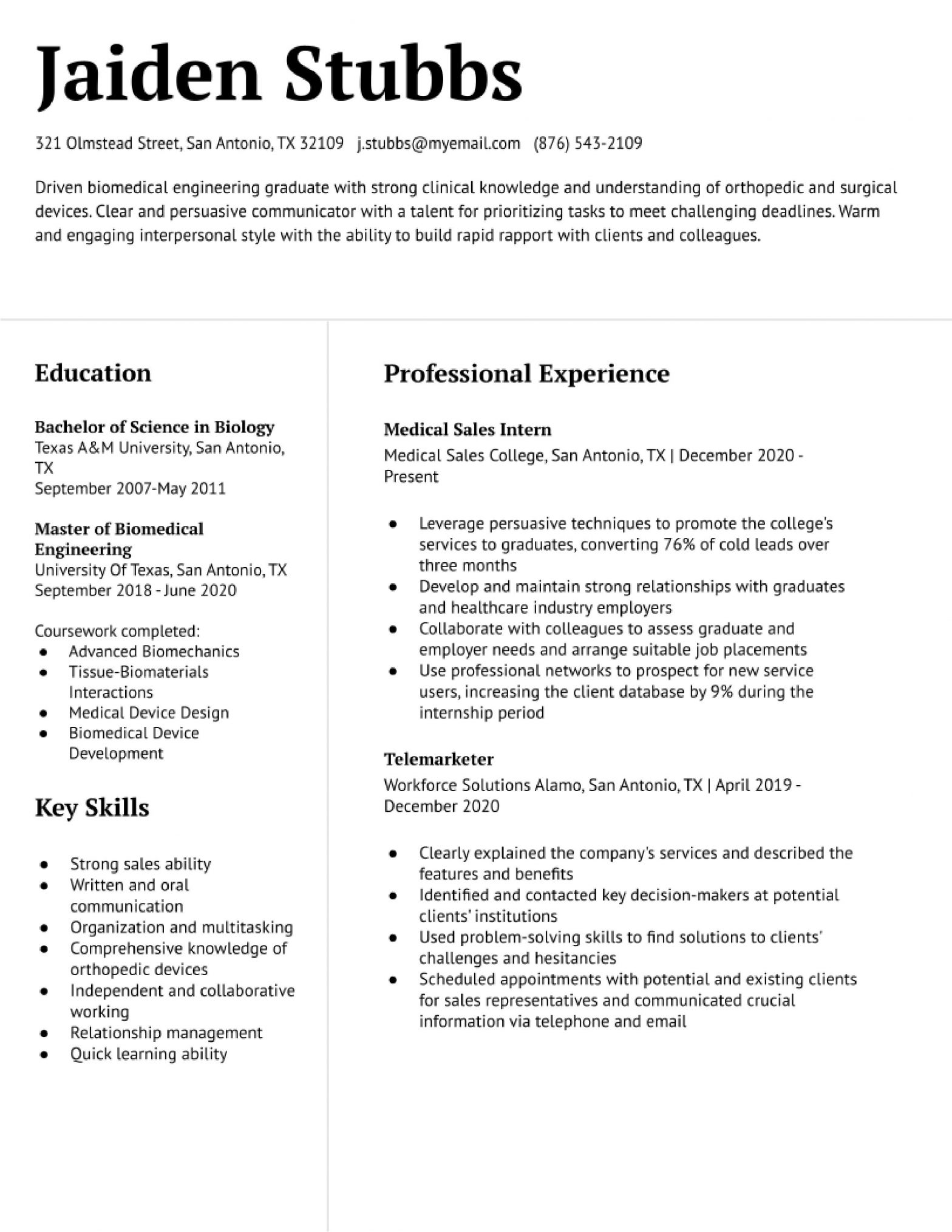 Entry Level Medical Sales Resume Samples Entry-level Medical Sales Representative Resume Examples ...