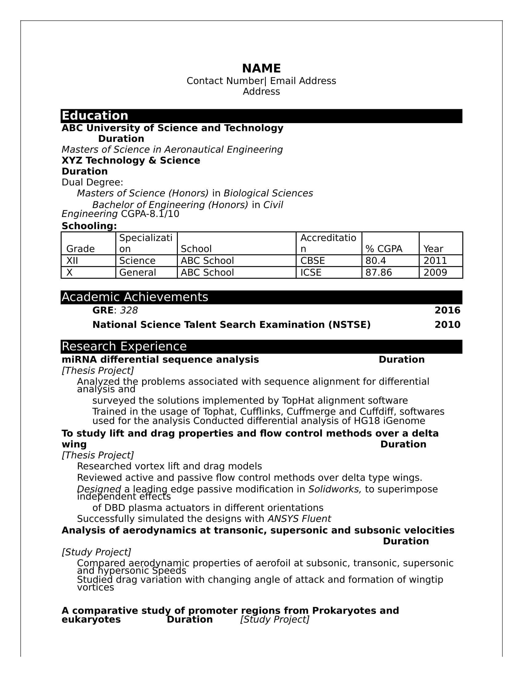 sample resume format for freshersml