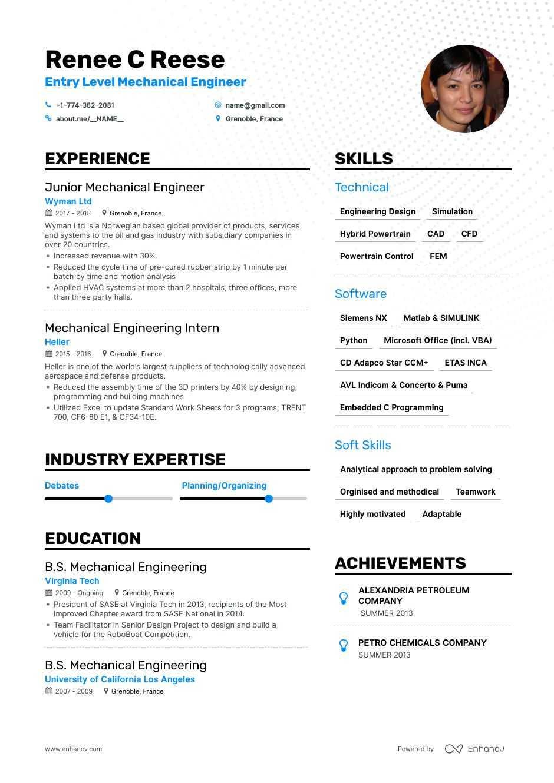 entry level mechanical engineer