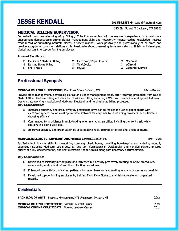 medical biller and coder resume examples