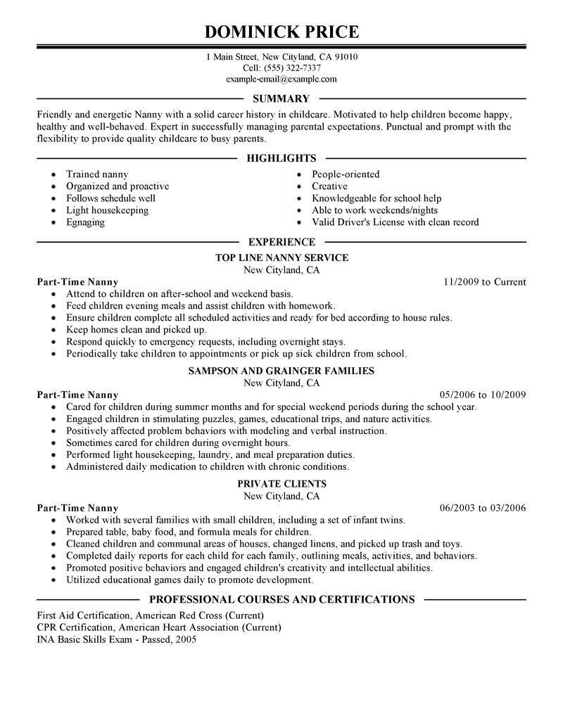 Resume for Part Time Job Student Sample Canada Part Time Job Resume Of Student In Canada – Perfect Resume format ...