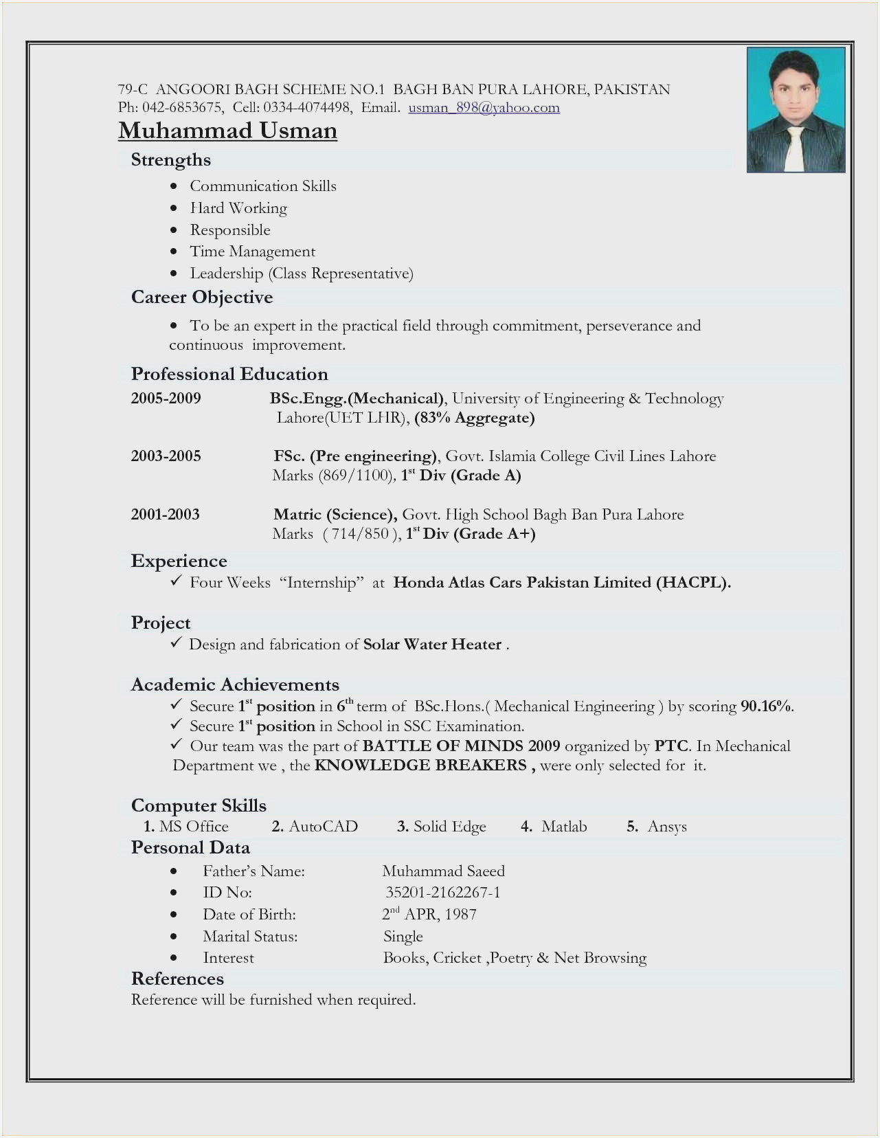 resume format for freshers mba pdfml
