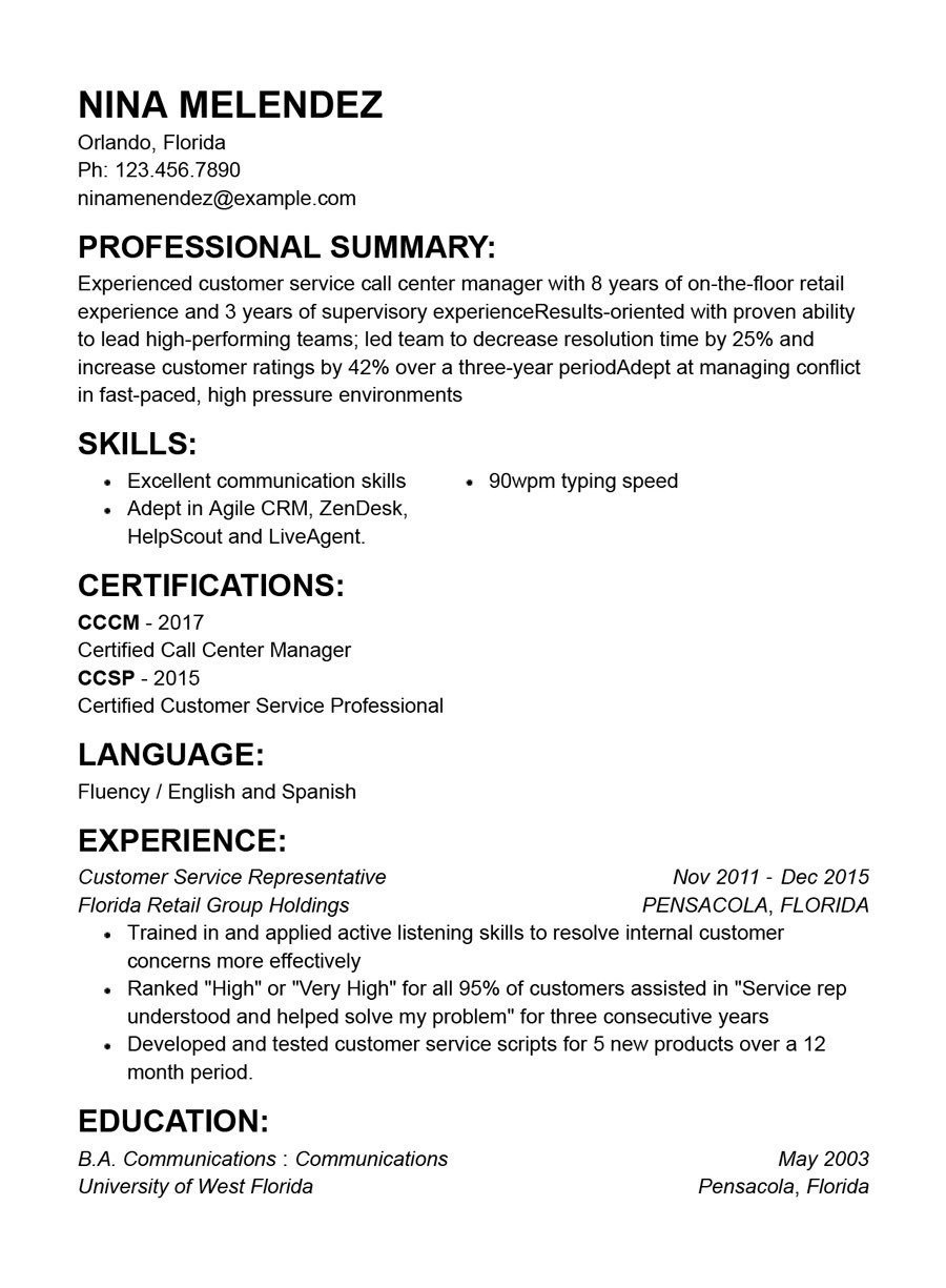 Sample Functional Resume Customer Service Representative Best Customer Service Resume Templates with Examples
