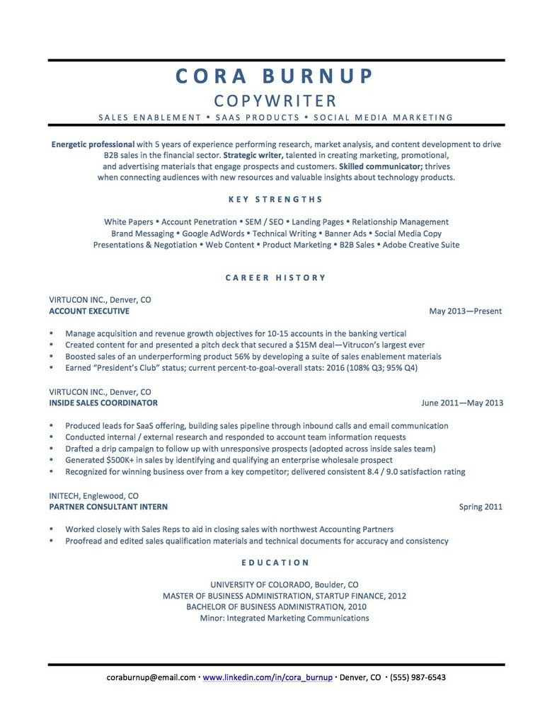 this is how you spin 1 resume for 5 different industries