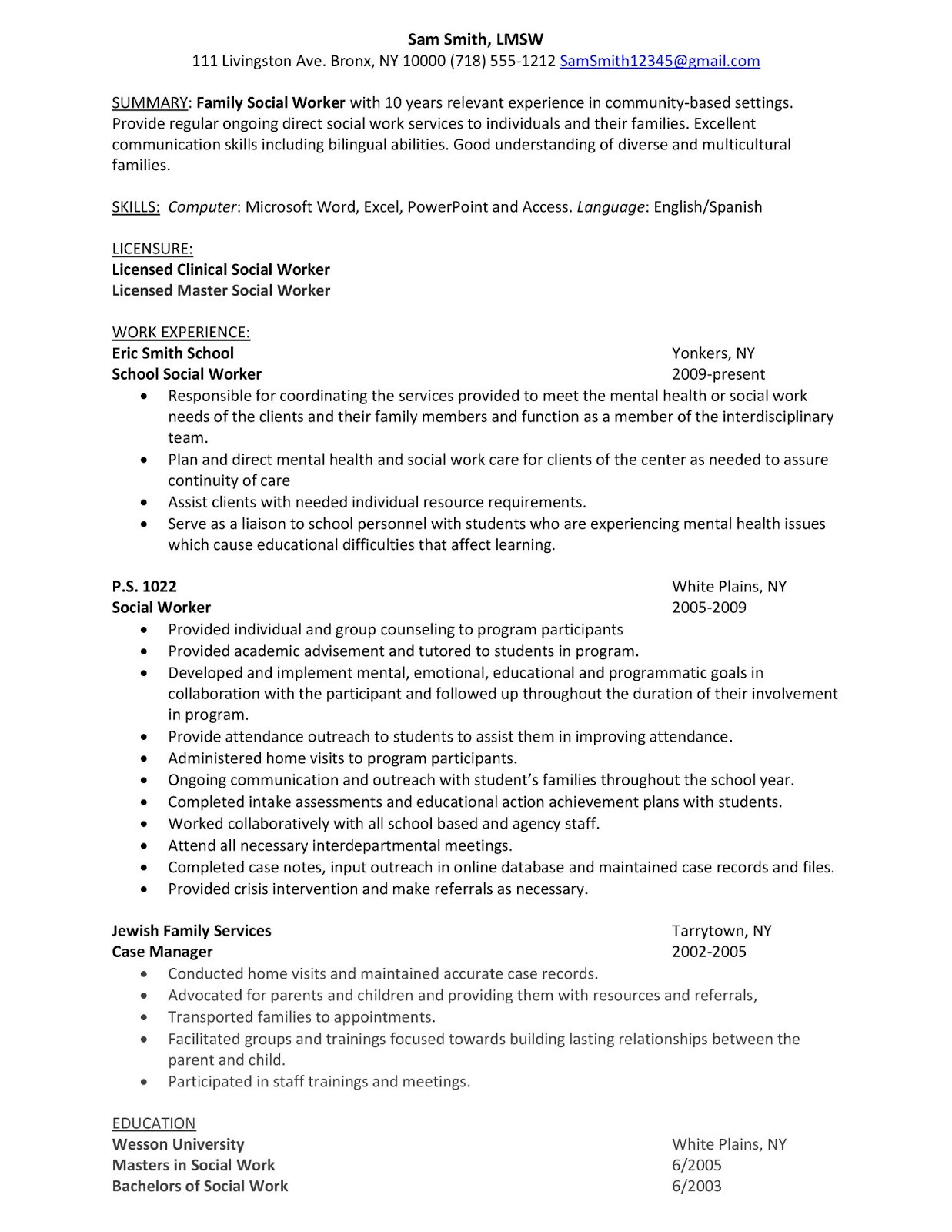 Sample Resume Child Protective Services Investigator Child Protective Services Resume