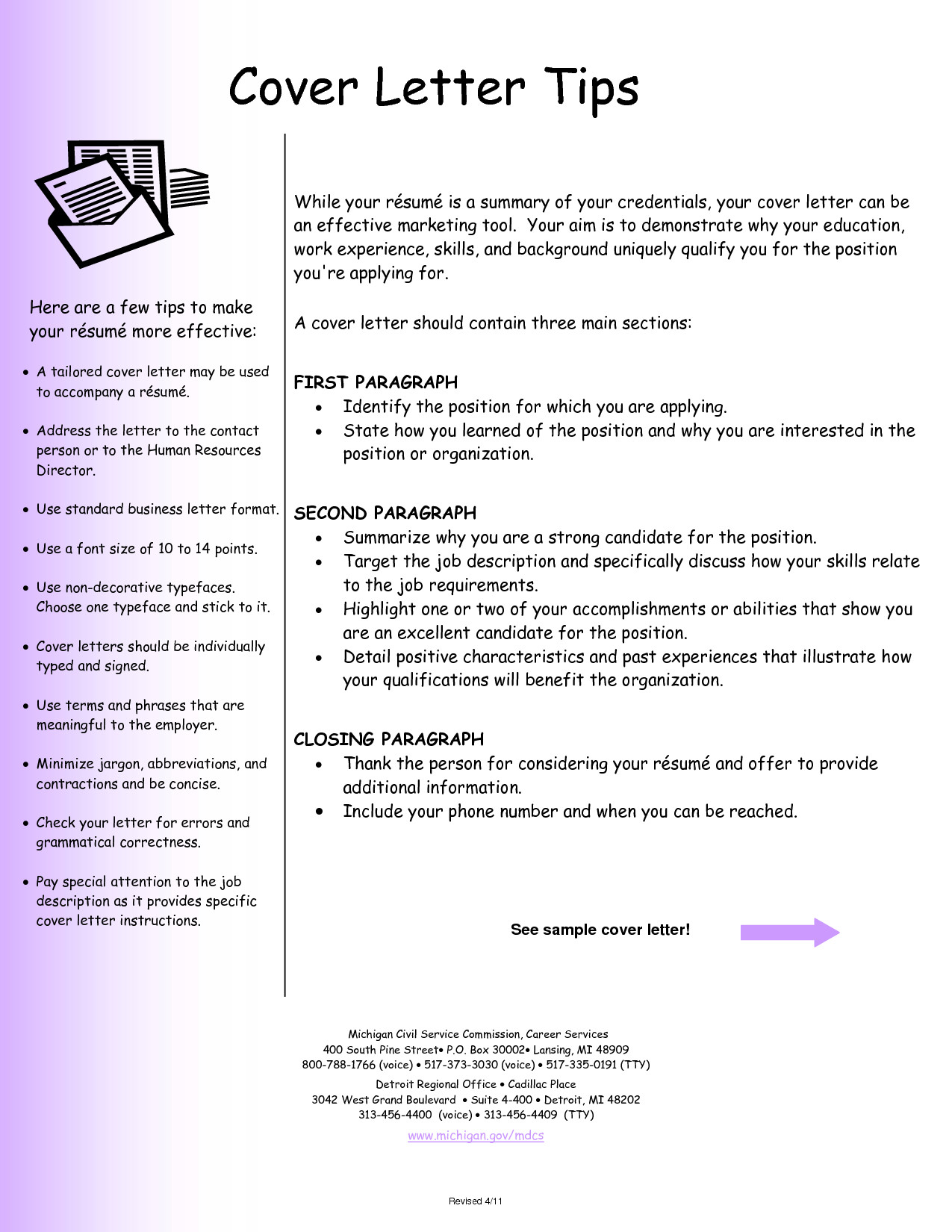 resume cover letter examples 2 7427