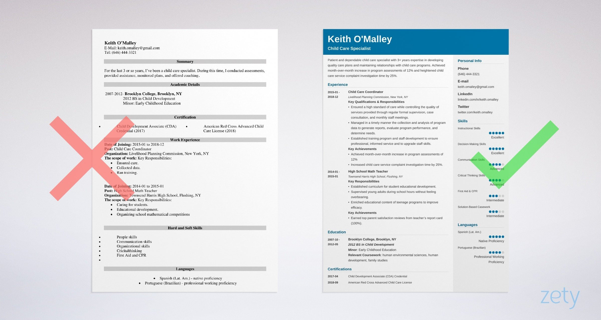 child care worker cv exampleml