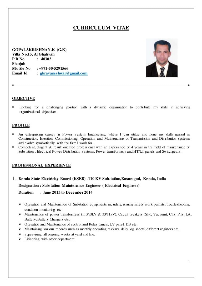 Sample Resume for Diploma Electrical Engineer Electrical Engineer Cv