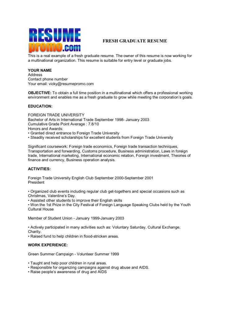 Sample Resume for Fresh Law Graduates Fresh Graduate Resume Pdf English as A Second or foreign ...