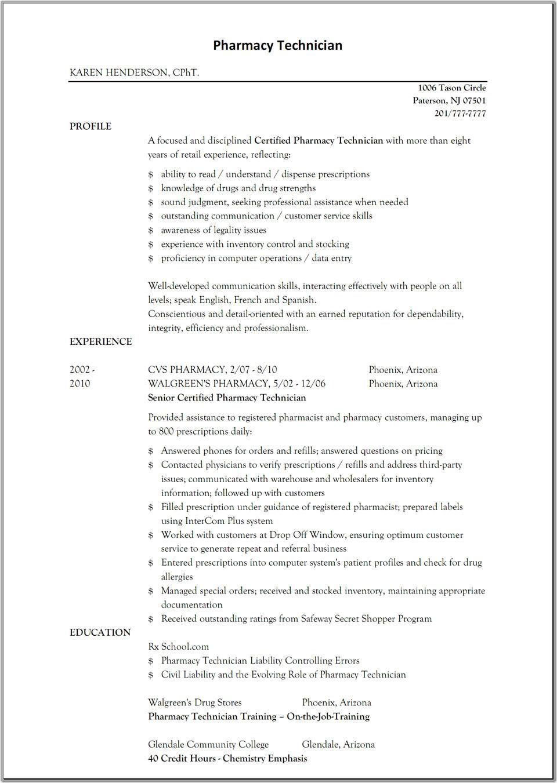 pharmacist assistant cv sampleml