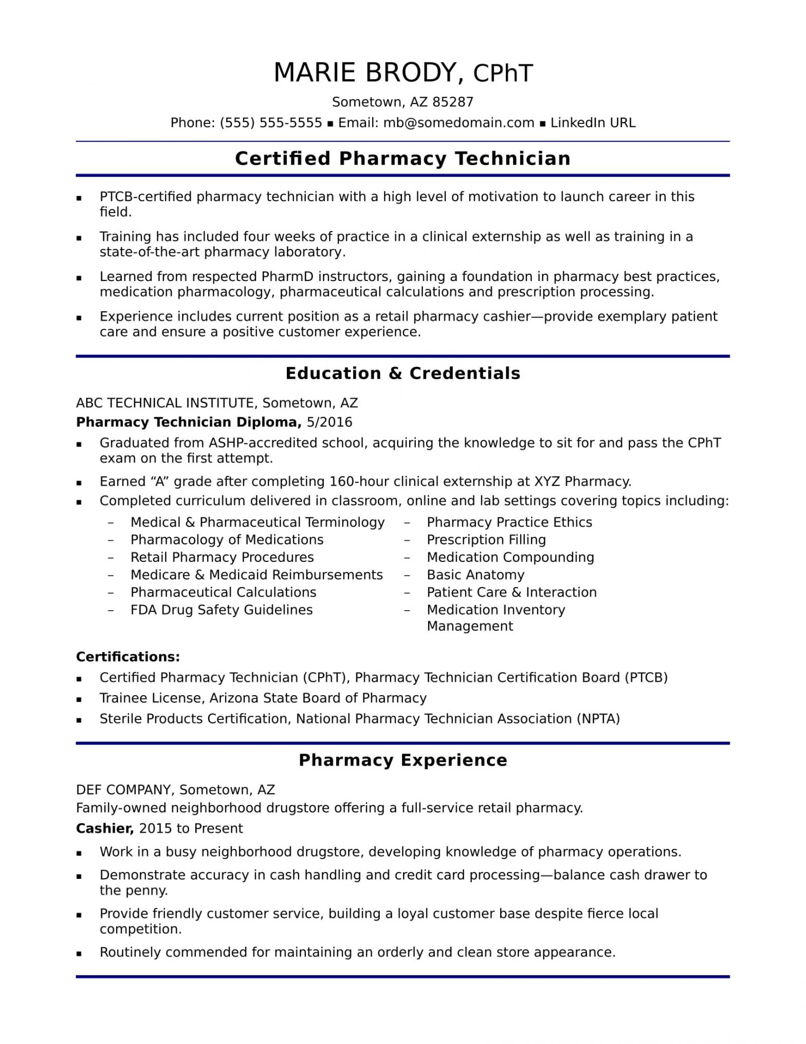 Sample Resume for Pharmacy assistant without Experience Pharmacy assistant Resume No Experience October 2021
