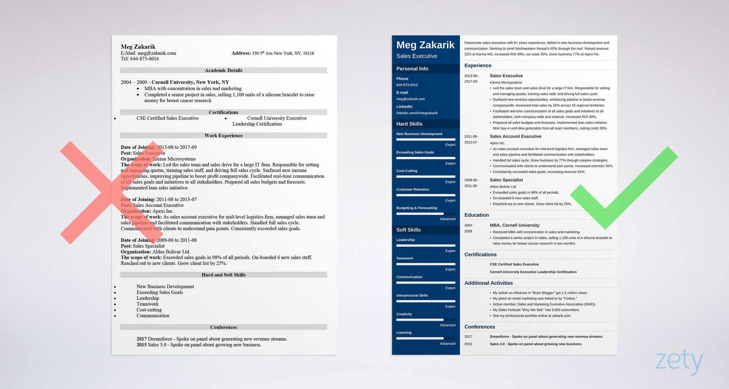executive resume example