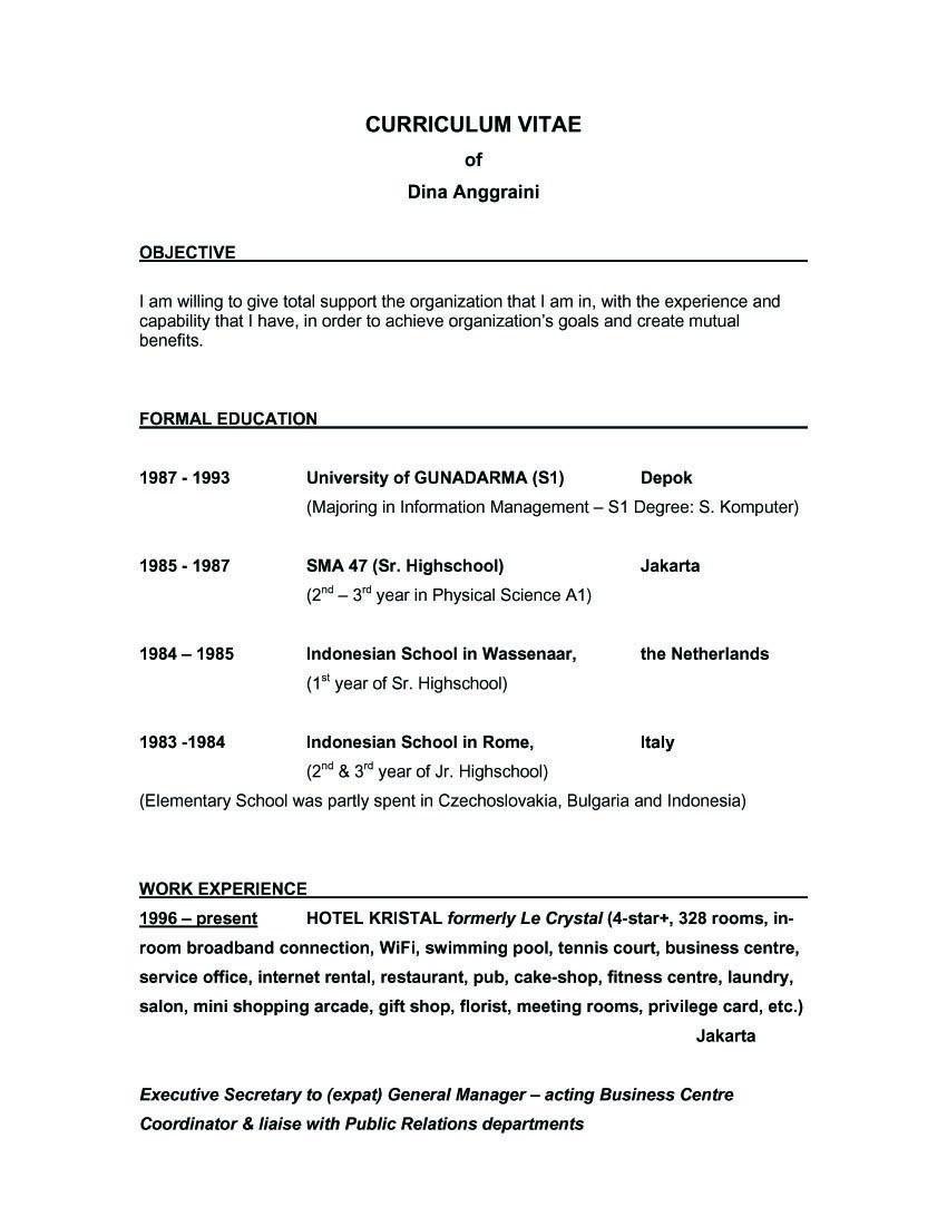 sample of resume objectiveml